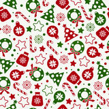 Seamless pattern of christmas texture icons Royalty Free Stock Photos