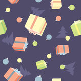 Seamless pattern with christmas theme Royalty Free Stock Photos