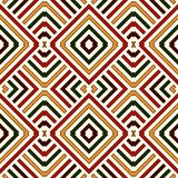 Seamless pattern in Christmas traditional colors. Bright ethnic ornamental abstract background. Can be used for digital paper, textile print, page fill. Vector Royalty Free Stock Photography