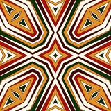 Seamless pattern in Christmas traditional colors. Bright ornamental abstract background. Ethnic and tribal motifs. Stock Image