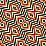 Seamless pattern in Christmas traditional colors. Bright ornamental abstract background. Ethnic and tribal motifs. Can be used for digital paper, textile print Royalty Free Stock Photography