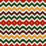 Seamless pattern in Christmas traditional colors. Chevron zigzag bright colors horizontal lines background. Ethnic and tribal motifs. Digital paper, textile Stock Images
