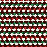 Seamless pattern in Christmas traditional colors with polygons tessellation. Geometric digital paper. Seamless pattern in Christmas traditional colors with royalty free illustration