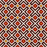 Seamless pattern in Christmas traditional colors. Repeated geometric forms bright ornamental abstract background. Stock Images