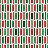 Seamless pattern in Christmas traditional colors with vertical lines. Geometric ornament. Stripes motif. Seamless pattern in Christmas traditional colors with royalty free illustration