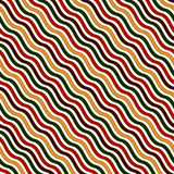 Seamless pattern in Christmas traditional colors. Wavy diagonal striped abstract background. Stock Images