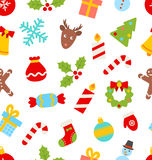 Seamless Pattern with Christmas Traditional Stock Image