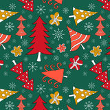 Seamless pattern with Christmas tree Royalty Free Stock Photo