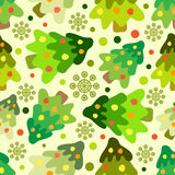 Seamless pattern of christmas tree Stock Photos