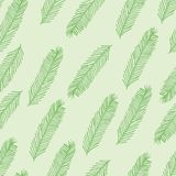 Seamless pattern with Christmas tree branch on green. Vector illustration. Seamless pattern with Christmas tree branch on a green background. Vector illustration Stock Photo