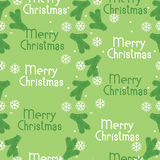 Seamless pattern Christmas tree branches and snowflakes Stock Photography