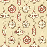 Seamless pattern with Christmas tree decoration Stock Photo