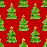 Seamless pattern with christmas tree. Christmas illustration Stock Photography