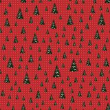 Seamless Merry Christmas Festive Pattern with Tree. Seamless Pattern of Christmas Tree, Modern  and Creative Festive Textile, Gift Wrap, Wall Art Design, Merry Stock Image