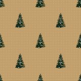 Seamless Merry Christmas Festive Pattern with Tree. Seamless Pattern of Christmas Tree, Modern  and Creative Festive Textile, Gift Wrap, Wall Art Design, Merry Royalty Free Stock Photography