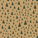 Seamless Merry Christmas Festive Pattern with Tree. Seamless Pattern of Christmas Tree, Modern  and Creative Festive Textile, Gift Wrap, Wall Art Design, Merry Royalty Free Stock Images