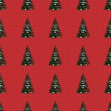 Seamless Merry Christmas Festive Pattern with Tree. Seamless Pattern of Christmas Tree, Modern  and Creative Festive Textile, Gift Wrap, Wall Art Design, Merry Stock Photography