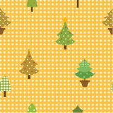 Seamless pattern christmas tree Royalty Free Stock Photo