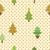 Seamless pattern christmas tree Royalty Free Stock Image