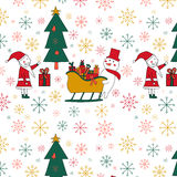 Seamless pattern with a Christmas tree Royalty Free Stock Images
