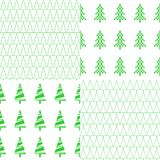 Seamless pattern with Christmas tree. A set of eight patterns. Vector. royalty free illustration