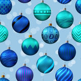 Seamless pattern with christmas tree toys. Vector illustration Stock Images