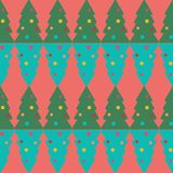 Seamless pattern of christmas tree, vector Stock Photography
