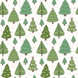 Seamless pattern of the Christmas tree. Vector illustration Royalty Free Stock Photos