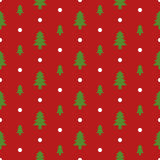 Seamless pattern of Christmas tree. Royalty Free Stock Images