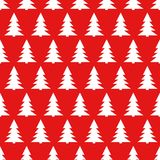 Seamless pattern with christmas tree. Vector seamless pattern with christmas tree isolated on red background Royalty Free Stock Photos