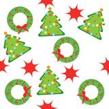 Seamless pattern with christmas trees Stock Photography