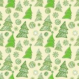 Seamless pattern of christmas trees Royalty Free Stock Image
