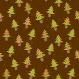 Seamless pattern with christmas trees. Winter seamless pattern with christmas trees in pots and toys Royalty Free Stock Photography