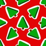 Seamless pattern with  Christmas trees on a. Backround. Vector Stock Photo