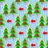 Seamless pattern with christmas trees and balls. Seamless christmas pattern. Holiday background for Christmas and New Year. Winter wallpaper. Vector illustration Royalty Free Stock Images