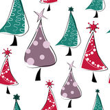 Seamless pattern with Christmas trees Royalty Free Stock Images