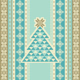 Seamless pattern with Christmas trees Stock Images