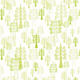 Seamless pattern with christmas  trees Royalty Free Stock Photo