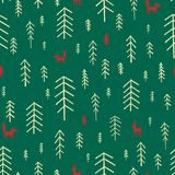Seamless pattern Christmas Trees. Stock Images