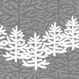 Seamless pattern with Christmas trees on a grey background. Monochrome seamless pattern with Christmas trees on black background. For New Year design, Christmas royalty free illustration