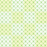 Seamless pattern of Christmas trees, isolate on white and yellow Stock Image