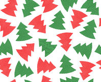 Seamless pattern Christmas trees isolated. Stock Photos