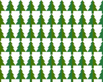 Seamless pattern Christmas trees for new year greeting card/wallpaper background. Vector Illustration. Stock Image