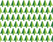 Seamless pattern Christmas trees for new year greeting card/wallpaper background. Vector Illustration. Royalty Free Stock Photography