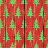 Seamless pattern with Christmas trees Stock Image