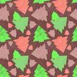 Seamless pattern with christmas trees Royalty Free Stock Image