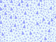 Seamless pattern with Christmas trees and snowflakes. Christmas pattern. Vector Royalty Free Stock Photo