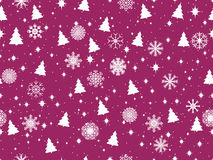 Seamless pattern with Christmas trees and snowflakes. Winter pattern. Vector. Illustration Royalty Free Stock Photo