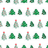 Seamless pattern of christmas trees Stock Photography