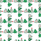Seamless pattern of christmas trees Royalty Free Stock Photos